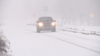 Download Midwestern snow and icy roads - 4K stock footage Video