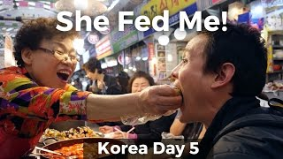Download Best Korean Street Food in Seoul at Gwangjang Market: She Fed Me! (Day 5) Video