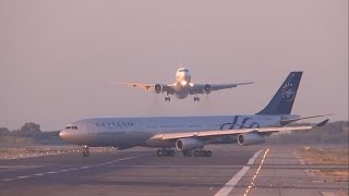 Download [FULL HD] UTair Aviation 767-300 NEAR MISS? GO AROUND at Barcelona-El Prat Video