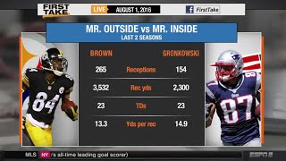 Download Rob Gronkowski or Antonio Brown: Who Is More Valuable? Video