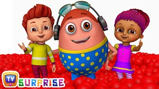 Download Kids play in HUGE Gumball Machine, Ball Pit and Surprise Eggs to Learn Color Red | ChuChu TV Funzone Video