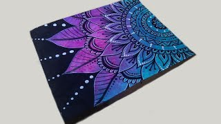 Download Mandala Drawing with Paint Marker & Gel Pen on Painted Paper Video
