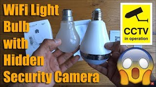 Download 360° Fisheye Panoramic Wifi LED Bulb Light with Spy Camera by MECO [Hands on Review and Test] Video