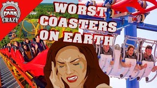 Download Top 10 WORST Roller Coasters on Earth 🎢👎🤕 Video