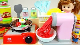 Download Play Doh Spaghetti cooking toys Baby doll play Video