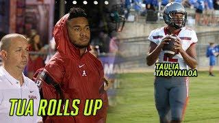 Download Alabama's Tua Tagovailoa Watches Little Bro Taulia Put On A SHOW! Who's The BETTER PROSPECT!? Video