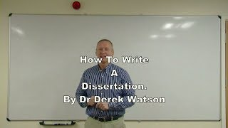 Download How To Write A Dissertation at Undergraduate or Master's Level Video