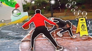 Download 1vs1 JesserTheLazer On Wet Soapy Slippery Court Challenge (Dish Washing Liquid) Basketball! Video