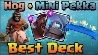 Download Clash Royale - Best Hog Rider + Mini Pekka Deck Combo Attack Strategy for Arena 4, 5, 6, 7 Video