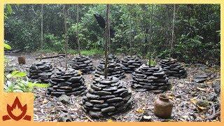 Download Primitive Technology: Stone Yam planters Video