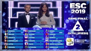 Download EUROVISION 2019 - Semifinal 2 Qualifiers (of 100000+ app users) Video