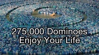 Download 275,000 Dominoes - Enjoy Your Life (Guinness World Record - Most dominoes toppled in a spiral) Video