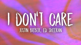 Download Ed Sheeran & Justin Bieber - I Don't Care (Lyrics) Video