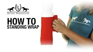 Download How To Apply Equine Standing Wrap Bandages Video