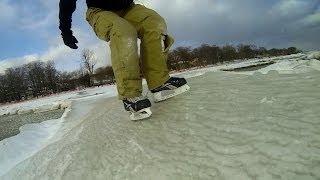 Download Ice Skating Frozen Waves Toronto Video