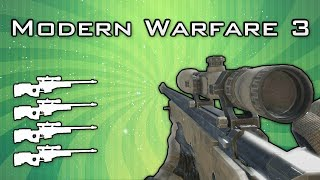 MW3: Golden/Thermal/Silenced Dragunov MOAB! (MW3 Sniper MOAB