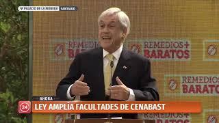 Download ″Remedios más baratos″: Presidente Piñera promulga ley que fortalece las facultades de Cenabast Video