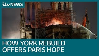 Download How the rebuilding of York Minister offers hope for Paris's Notre-Dame | ITV News Video