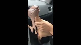 Download Footjob car and feet nylon play Video