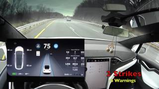 Download Tesla Model X v8 Autopilot Warning on Demand, Three Strikes Explained and Demoed and MORE Video
