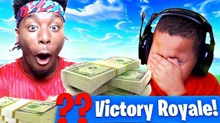Download P2istheName *TROLLS* MY LITTLE BROTHER AND MADE HIM LOSE $5000! FORTNITE BATTLE ROYALE FUNNY MOMENTS Video
