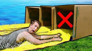 Download DO NOT Water Slide through the Wrong Mystery Box!! Video