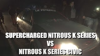 Download Supercharged K24 Puts Bus Lengths On Nitrous K20 Civic! Video