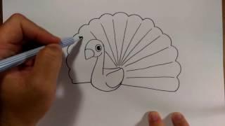 Download วาดการ์ตูน นกยูง ง่ายๆ |สอนวาดรูป | วาดการ์ตูน กันเถอะ Video