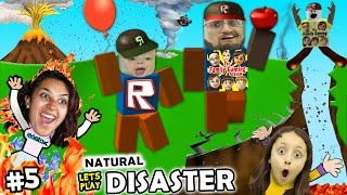 Download Let's Play ROBLOX #5: SAVE FAMILY OR PLAY GAMES? Natural Survival Disaster w/ FGTEEV Duddy & Chase Video