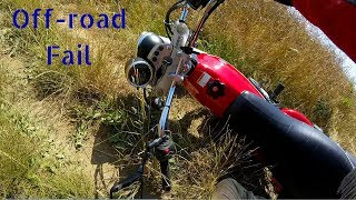 Download Riding in the woods + Fail (Suzuki VanVan) Video