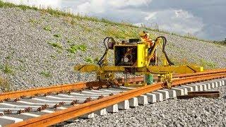 Download WoW! World Amazing Modern Railway Construction Machine Compilation. Railway track laying machine Video
