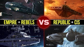 Download Empire and Rebels vs. Republic and CIS: Who Would Win? | Star Wars Galactic Versus Video