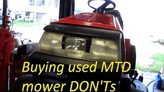 Download Buying used MTD mower DON'TS Video