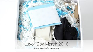Download March Luxor Box Unboxing & GIVEAWAY Video