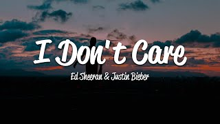Download Ed Sheeran & Justin Bieber - I Don't Care (Lyrics) Video