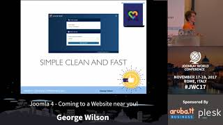 Download JWC 2017 - Joomla 4 - Coming to a Website near you! - George Wilson Video