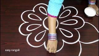 Download latest free hand rangoli designs * simple kolam with out dots * beautiful muggulu * easy rangavalli Video