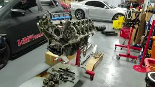 Download 11-14 Cam installation on Coyote engine. And Oil pump gear drop test Video