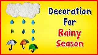 Download Rainy season craft l How to make rainy season decoration l Seasons activity Video