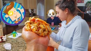 Download HALLOWEEN PUMPKIN CARVING fun! FUNnel Vision Holiday Decor Vlog Video