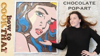 Download CHOCOLATE Wonder Woman Pop Art   Ann Reardon   Roy Lichtenstein Video