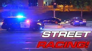 Download 13min of Illegal Street Racing + Cops! Video