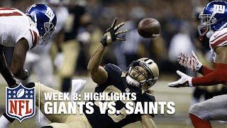 Download Giants vs. Saints   Week 8 Highlights   NFL Video