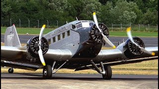Download Ju 52 HB-HOY Innenaufnahmen / historische Ju 52 HB-HOT Start und Landung Video