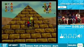 Download Super Mario 64 Multiplayer by 360Chrism, Snowman in 15:09 - Awesome Games Done Quick 2016 - Part 11 Video
