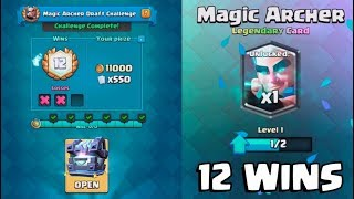 Download 12 WINS MAGIC ARCHER CHALLENGE :: Clash Royale :: LEGENDARY KINGS CHEST OPENING! Video
