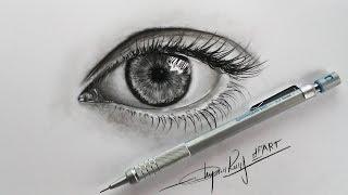 Download How to draw an eye with pencils -Hướng Dẫn Vẽ Mắt Bằng Bút Chì - DP Truong Video
