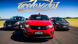 Download DESAFIO TRÊS CILINDROS: FIAT MOBI x HYUNDAI HB20 x PEUGEOT 208 - VR C/ BARRICHELLO #99 | ACELERADOS Video