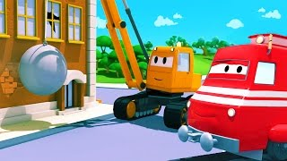 Download Troy The Train and the Demolition Crane in Car City | Cars & Trucks cartoon for children Video