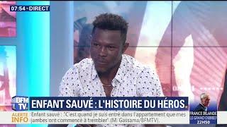 Download Enfant sauvé d'une chute: l'intégralité du témoignage de Mamoudou Gassama sur le plateau de BFMTV Video